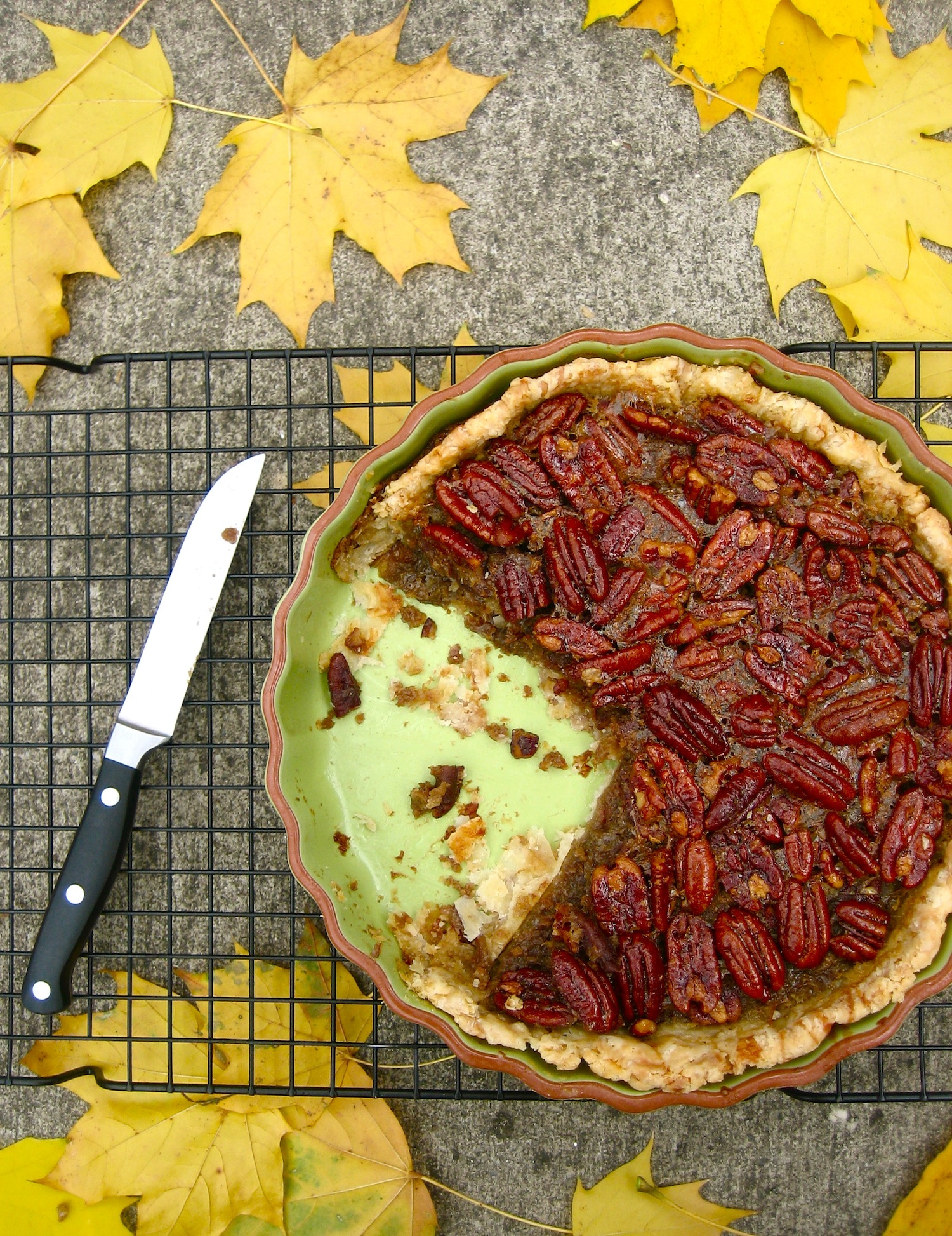 Maple Pecan Pie with Star Anise | Charlotte au Chocolat